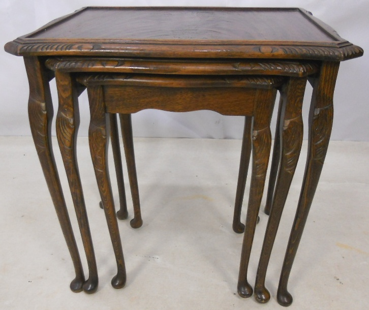 Queen Anne Style Mahogany Nest of Tables SOLD : queen anne style mahogany nest of tables sold 3 1094 p from www.harrisonantiquefurniture.co.uk size 726 x 610 jpeg 181kB
